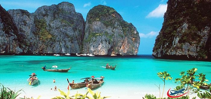Krabi tuyệt đẹp với biển xanh, cát trắng