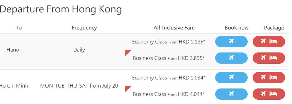 Vé khứ hồi đi Hongkong giá rẻ từ Việt Nam