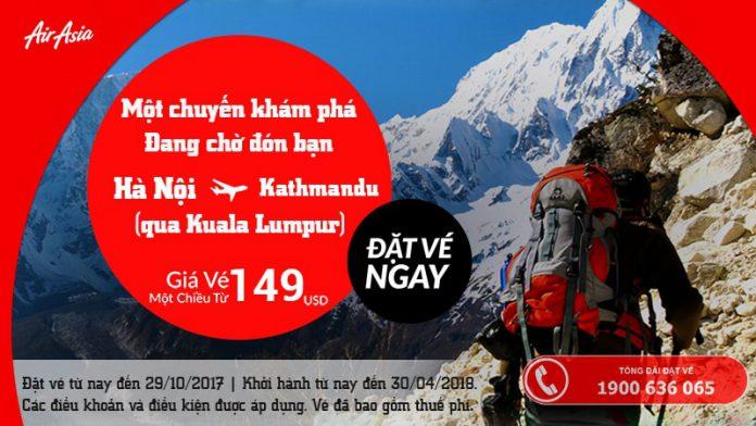 Air Asia KM vé đi Nepal siêu rẻ từ 148 usd