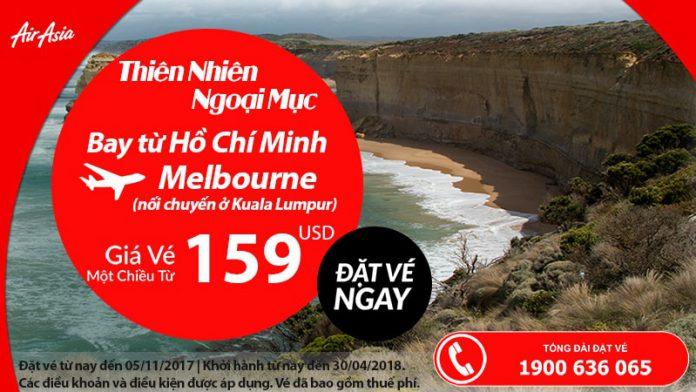 Vé từ 159 usd - Bay đến Úc cùng Air Asia!