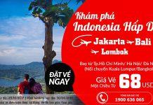Air Asia KM vé rẻ tháng 10 đến Indonesia