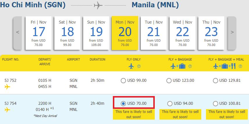 Hành trình HCM - Manila chỉ từ 70 USD ưu đãi
