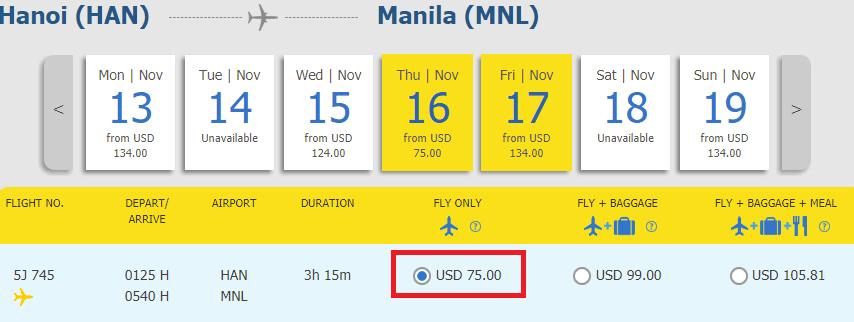 Hành trình Hà Nội - Manila chỉ từ 75 USD cùng Cebu
