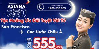 Asiana Airlines KM vé khứ hồi từ 555 USD siêu rẻ