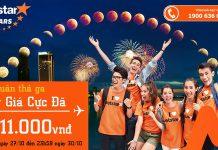Jetstar KM vé Tết chỉ từ 11k siêu rẻ