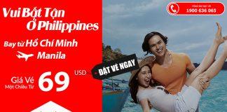Air Asia KM vé đến Manila