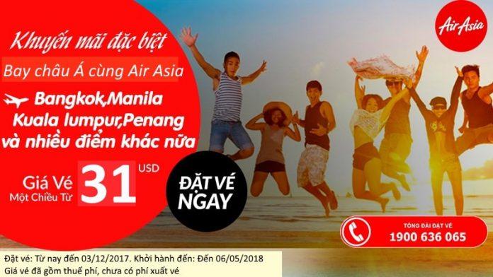 Air Asia KM vé chỉ từ 31 USDac