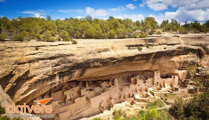Cảnh quan đặc trưng ở công viên quốc gia Mesa Verde Mỹ