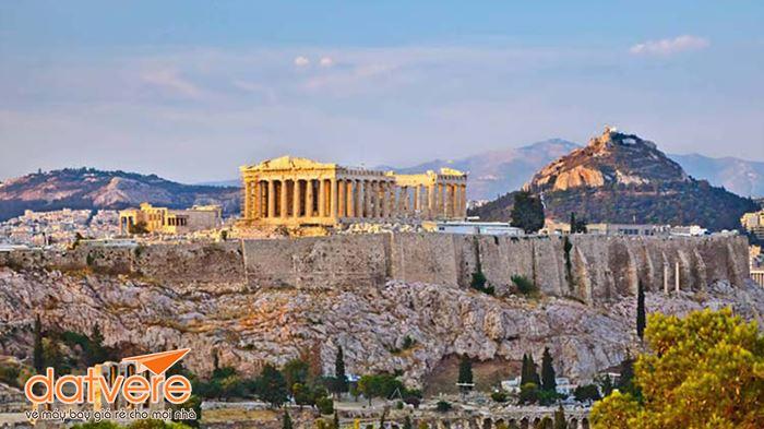 Toàn cảnh quảng trường Syntagma từ xa