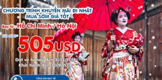 Korean Air KM vé khứ hồi từ 505 USD bay Nhật Bản.