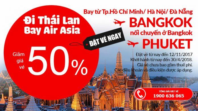 Vé bay Bangkok giảm đến 50% siêu tiết kiệm!