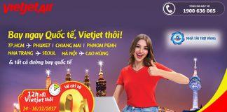 Vietjet Air tiếp tục KM 3 ngày vàng săn vé 0Đ