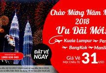 Đón năm mớ 2018, vé Air Asia chỉ từ 31 USD
