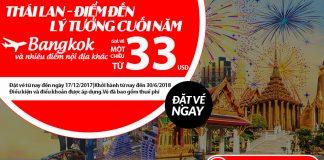 Air Asia KM vé máy bay đi Thái Lan giá rẻ