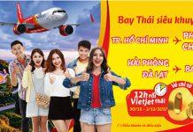Vietjet Air KM vé máy bay đi Thái Lan từ 0 đồng