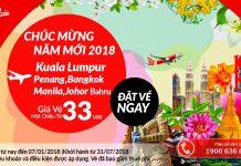 Air Asia mở bán vé 1 chiều chỉ từ 33 USD