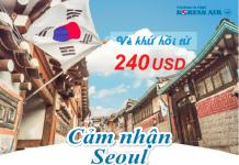 Vé khứ hồi từ 240 USD bay ngay Korean Air từ VN