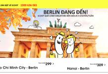 Scoot khuyến mãi vé đi Đức giá rẻ