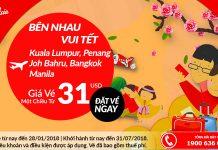 Săn vé Air Asia giá rẻ chỉ từ 31 USD