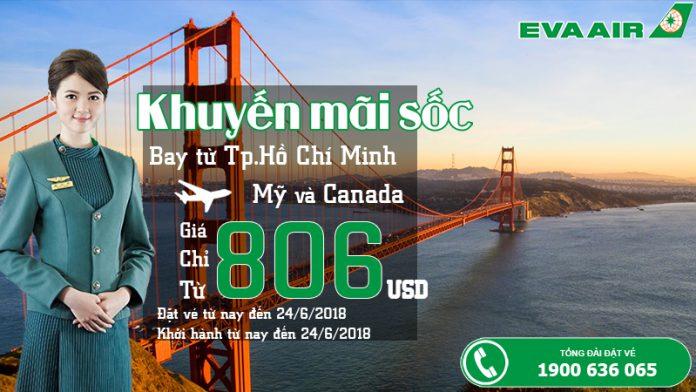 Eva Air mở bán vé khứ hồi chỉ từ 806 USD siêu rẻ