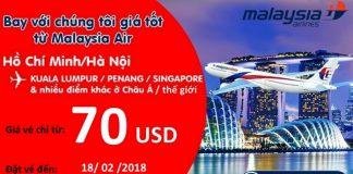 Malaysia Airlines mở bán vé một chiều chỉ từ 70 USD