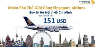 Đặt vé Singapore Airlines khứ hồi từ 151 USD