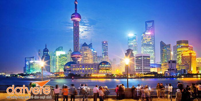 Cảnh đêm ở thành phố Thượng Hải