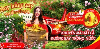3 ngày vàng săn vé 0 đồng của Vietjet Air