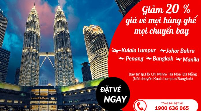 Khuyến mãi giảm giá vé đặc biệt của Air Asia