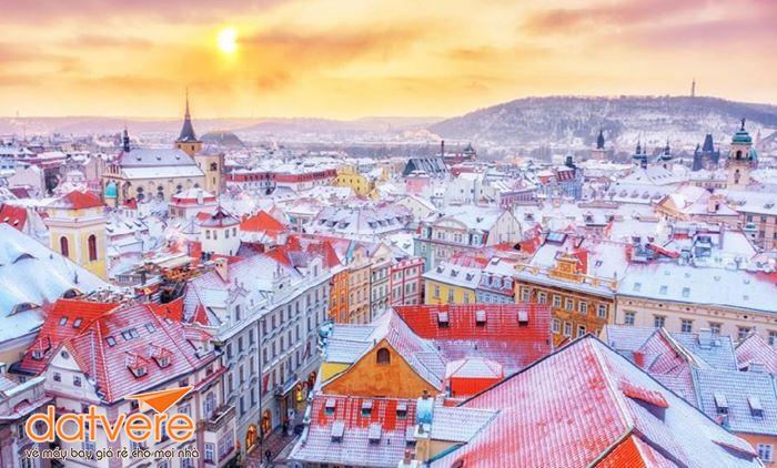 Mùa đông ở thành phố Prague