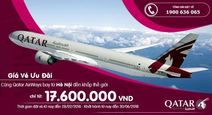 Qatar ưu đãi giá vé khi khởi hành từ Hà Nội
