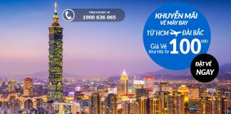 Vé máy bay Hồ Chí Minh đi Đài Bắc giá rẻ