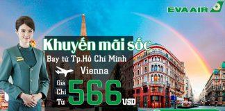 Đặt vé Eva Air đi Vienna giá chỉ từ 566 USD siêu rẻ
