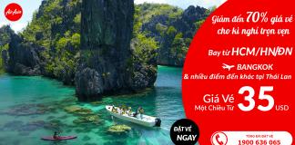 Đặt vé Air Asia đi Thái Lan giá rẻ