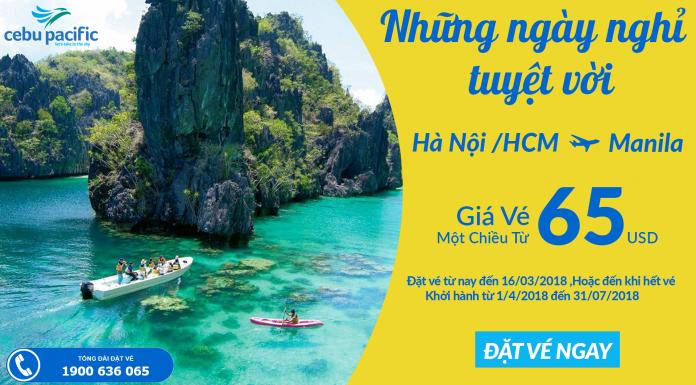 Cebu Pacific mở bán vé đi Manila giá rẻ