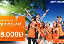 Đặt vé Jetstar chỉ từ 48.000 VND