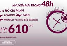 Đặt vé Qatar Airways khuyến mại