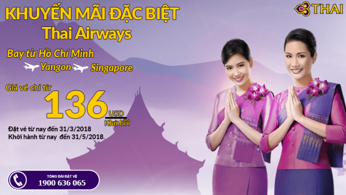 Thai Airways mở bán vé máy bay khứ hồi giá rẻ