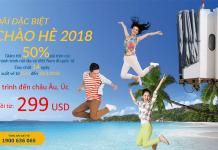 Đặt vé khứ hồi Vietnam Airlines KM từ 299 USD