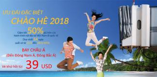 Vietnam Airlines mở bán vé khứ hồi bay châu Á từ 39 USD