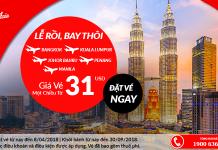 Air Asia khuyến mại vé đi châu Á giá rẻ