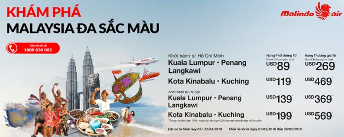 Malindo Air mở bán vé máy bay đi Malaysia từ 35 USD