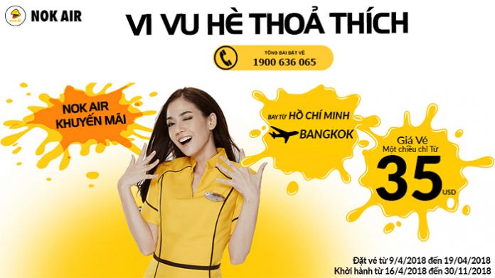 Nok Air mở bán vé 1 chiều từ 35 USD
