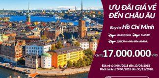 Đặt vé khứ hồi khuyến mại hãng Qatar Airways