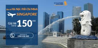 Singapore Airlines khuyến mại vé máy bay đi Singapore giá rẻ