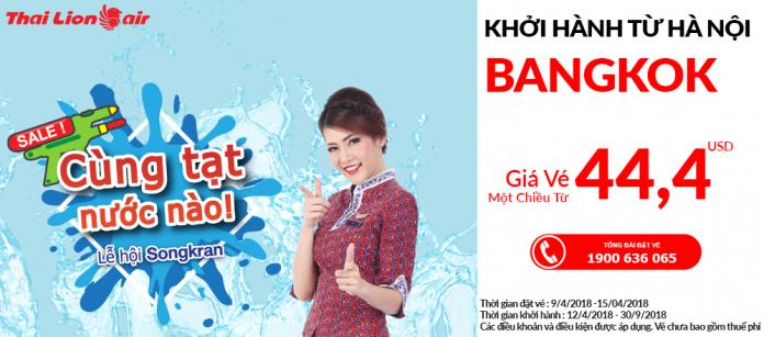 Đặt vé máy bay Thai Lion Air giá rẻ