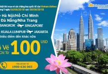 Vietnam Airlines KM vé khứ hồi bay quốc tế