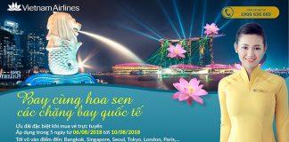 Đặt vé máy bay khuyến mại hãng Vietnam Airlines